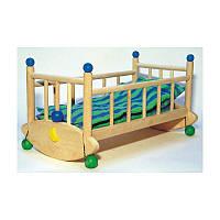 Игрушечная кроватка для кукл, деревянная (колыбель)