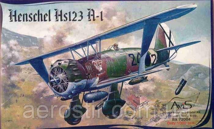 Henschel Hs123A-1 1/72 Avis 72004
