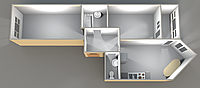 Двухкомнатные квартиры 56,97 кв.м. 15 этаж__38000