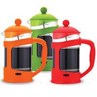 Пресс-кофейник заварник Maestro 1000 мл (зеленый, красный, оранжевый)