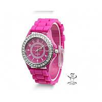 Яркие женские Наручные Часы Geneva Блеск Розовые в Наличии