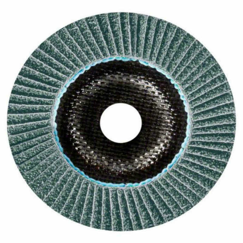 Лепестковый круг Bosch Best керамический корунд Ø115 K40 прокладка из стекловолокна, конусный