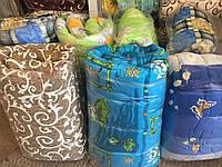 Силиконовое одеяло полуторное 150х205см, поликоттон, Украина, цвета в ассортименте