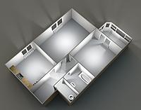 Двухкомнатные квартиры 53.27 кв.м. 9 этаж__38000