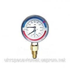 Манометр с термометром (термоманометр) радиальный ДМТ 05080