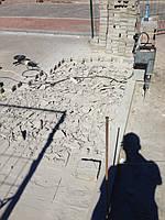 Центральная площадь г.Ирпень установка Боллардов 5