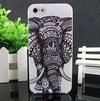 Силиконовый чехол бампер для Iphone 5 / 5S с картинкой Слон