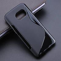 Чехол Samsung G930 / S7 силикон TPU S-LINE черный, фото 1
