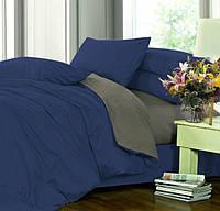 Двуспальное постельное белье, сатин однотонный, микс №4052+№240