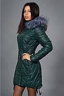 Зимняя молодежная куртка с капюшоном