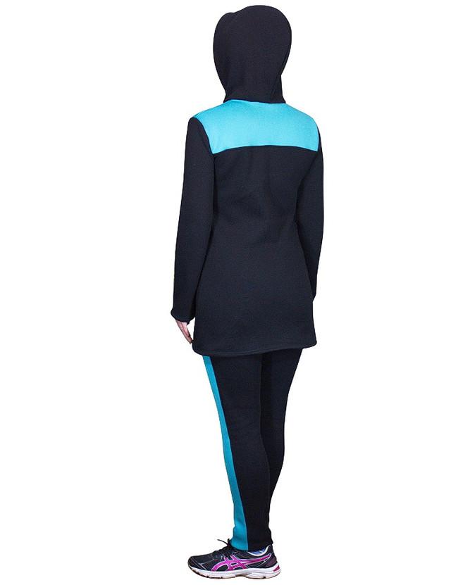 Теплый спортивный костюм кардиган с капюшоном и брюки - спина - фото teens.ua