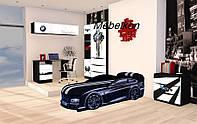 """Комплект детской мебели для комнаты """"Детская комната AUTO.BMW черная"""""""