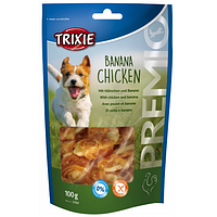 Trixie TX-31582 PREMIO Banana Chicken 100гр - лакомство для собак   с курицей и бананом