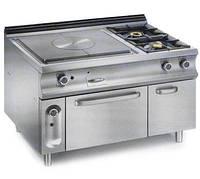 Газовая плита MBM GT2SDFA9 с концентрической зоной, двумя конфорками и духовкой (1350х900х850 мм)