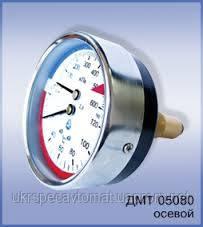 Манометр с термометром (термоманометр) осевой ДМТ 05080, фото 2
