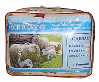 Шерстяное одеяло двуспальное 175х210см, бязь, Украина, цвета в ассортименте