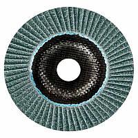 Лепестковый круг Bosch Best керамический корунд Ø115 K80 прокладка из стекловолокна, конусный