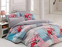 Хлопковый комплект постельного белья ЕВРО размера Cotton Box RITA PEMBE CB03