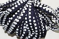 Кант текстильный (50м) т.синий+белый, фото 1