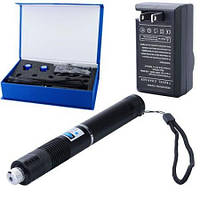 Синий лазер 10000mW Pro (445nm) YX-B008 с дополнительными насадками