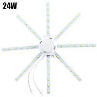 LED лампа, светильник драйвер AC-220/DC-24W SMD5730 1920Lm 6000-6500K