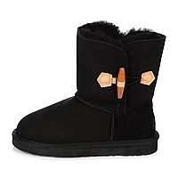 UGG Short Wooden Bow Black