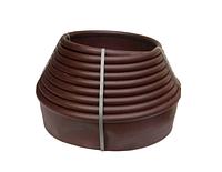 Бордюрная лента для клумб 10 м (коричневая)