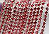 Цепь со стразами , SS 38 ( 8 мм) , Цвет Красный