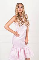 Платье с рюшей-клеш  ZL1034