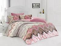 Хлопковый комплект постельного белья ЕВРО размера Cotton Box LIDA BEJ CB03