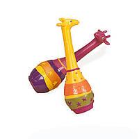Музыкальная игрушка серии ДЖУНГЛИ набор маракасов ДВА ЖИРАФА Battat (BX1251GTZ)
