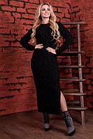 Женское вязаное черное платье  Лало П Modus   44-48 размеры