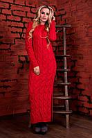 Женское вязаное коралловое платье  Лало П Modus  44-48 размеры