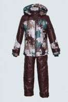 """Зимний костюм для мальчика """"Пазлы"""", 110-134 р-р"""