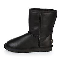 UGG Classic Short Black Leather