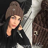Женская шапка,крупная вязка с люрексовой нитью,разные цвета!