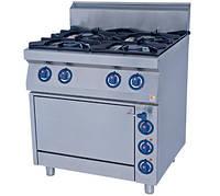 Четырехконфорочная газовая плита Kogast KS-T47/1 с электрической духовкой (800х700х900 мм)
