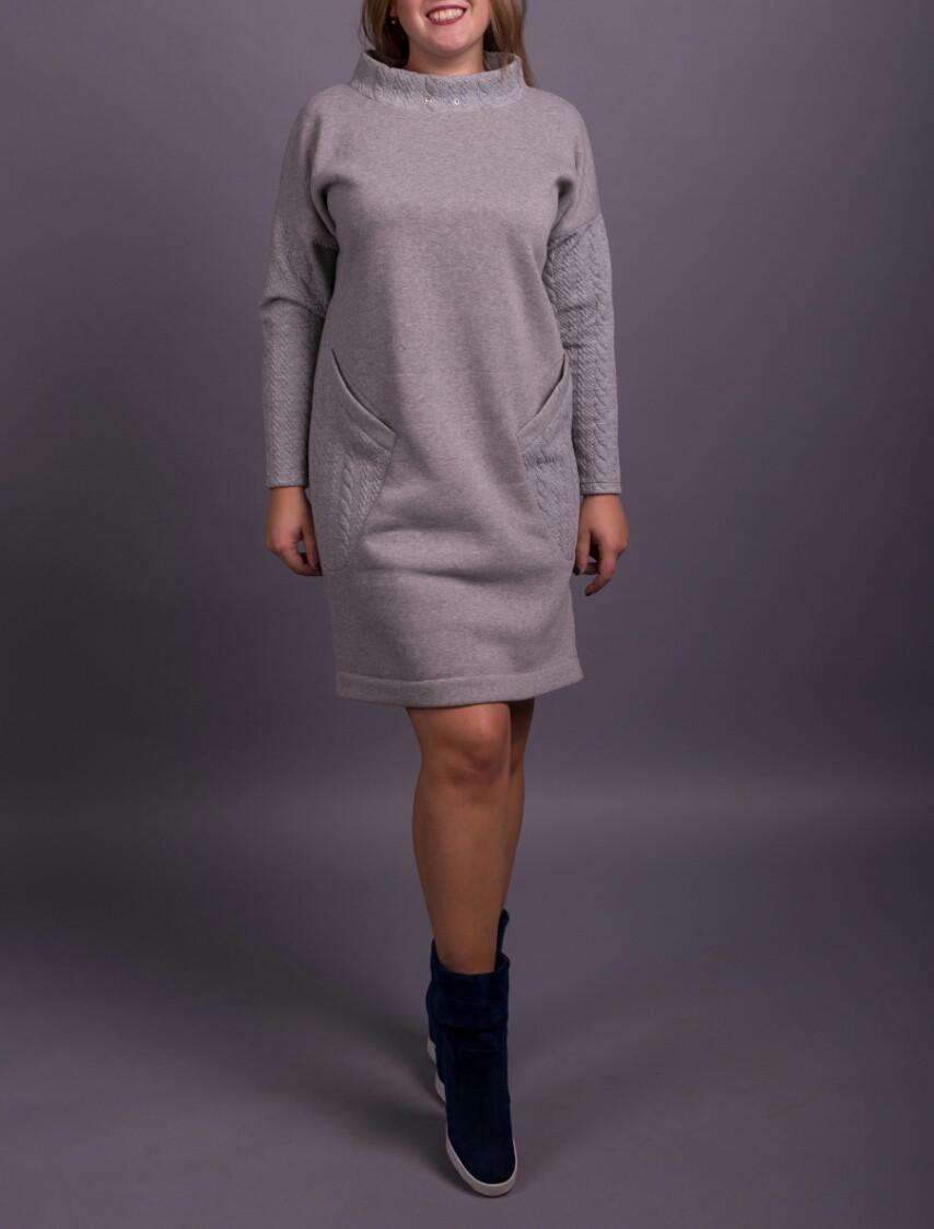 """Теплое женское платье с начесом """"Марлен"""", размеры от 42 по 70"""