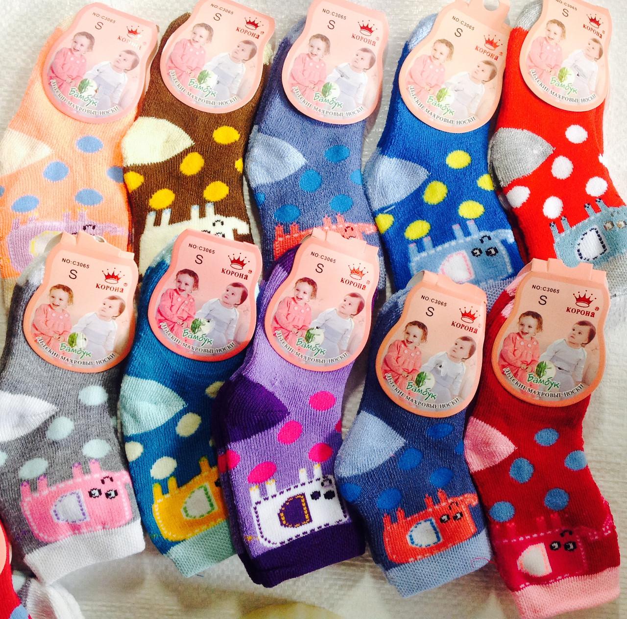 Махровые детские носочки Корона S M Бамбук