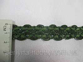 Тасьма декоративна 2 см Зелена темна. Тайвань Тасьма декоративна
