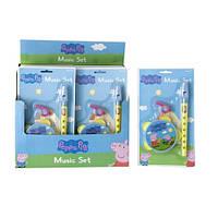 Набор музыкальных игрушек Peppa МИНИОРКЕСТР бубен, дудочка, свисток, в дисплее (1383002)