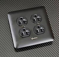 Родиевая  дуплекс Hi-End аудиофильская  розетка  VooDoo PowerPhase AC Outlet, фото 1