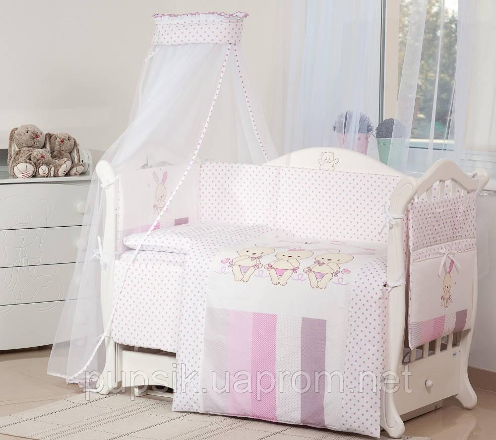 Постельный комплект для новорожденного Twins Dolce D-002 Friend forever (8 предметов)