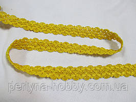 Тесьма декоративна 2 см. Жовта. Тайвань Тасьма декоративна