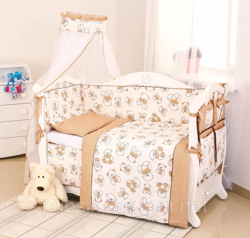 Постельный комплект для новорожденного Twins Dolce Bears D-004 (8 предметов)