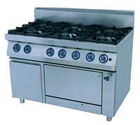 Шестиконфорочная газовая плита Kogast PS-T67/1 с духовкой (1200х700х900 мм)