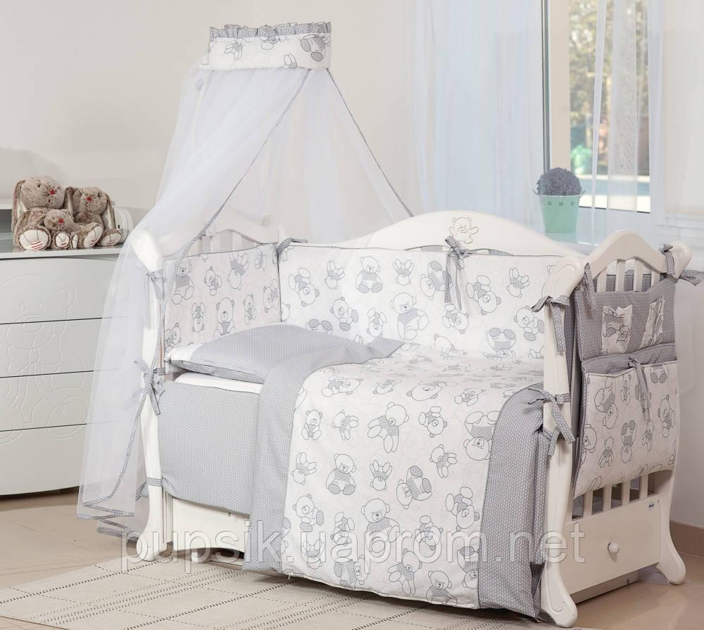 Постельный комплект для новорожденного Twins Dolce Bears D-005 (8 предметов)