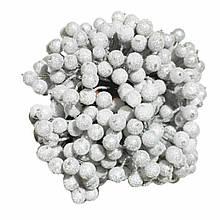 Ягідки в цукрі декоративні срібло 400 мм шт 12