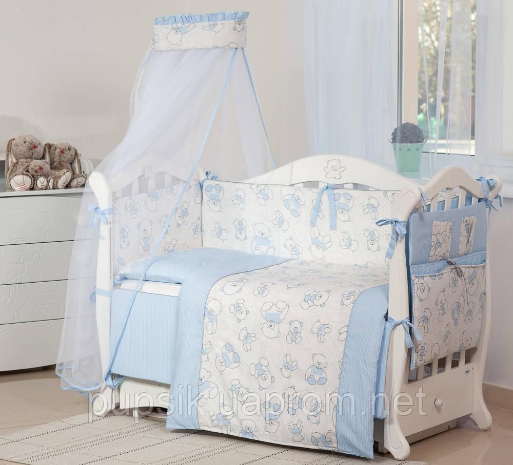 Постельный комплект для новорожденного Twins Dolce Bears D-007 (8 предметов)