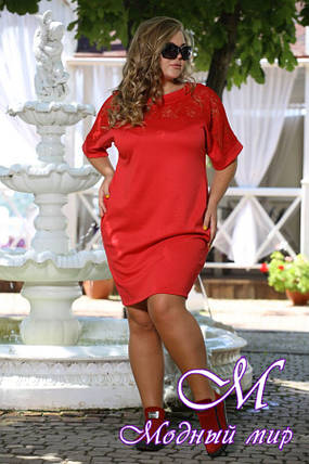 Женское красное платье больших размеров (48-90) арт. Бруклин, фото 2
